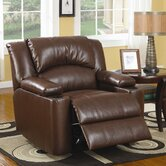 Plains Leather Chaise  Recliner