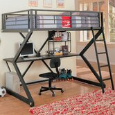 Drew Full Workstation Bunk Bed with Desk