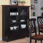 Addison Two-Door Display Curio with Glass &amp; Wood Panel Storage Spaces
