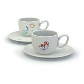 Storie A Colazione Niki Fra Le Stelle Cups with Saucers Set by Miriam Mirri