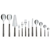 Santiago Stainless Steel Cutlery Set with Black PVD Coating by David Chipperfield