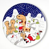 Figure The Hug Plate Panettone Serving Plate by LPWK, Massimo Giacon and Marcello Jori