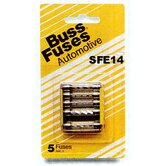 5 Count SFE 14 Amp Glass Tube Fuses BP/SFE14