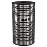 Stainless Steel Trash Receptacle