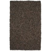 Pelle Leather Dark Brown Rug
