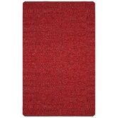 Pelle Short Leather Red Rug