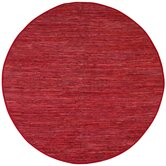 Matador Red Leather Chindi Rug
