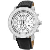 Tazo Chronograph Diamond Calfskin Band Watch