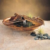 Copper Nature Bowl Small Tabletop Fountain in Flame Finish