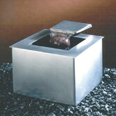 Saa-Deh Square Tabletop Fountain in Stainless Steel Matte Finish