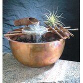 Copper Gentle Flow Tabletop Fountain in Flame Finish