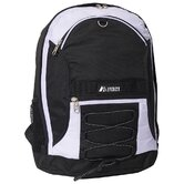 "17"" Two-Tone Backpack with Mesh Pockets"