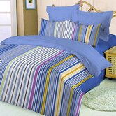 10-Piece Twin XL-Size Dorm Room in a Box in Blue / Stripe