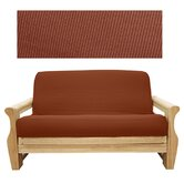 Elegant Ribbed Brick 5 Piece Full Futon Cover Set