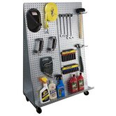 &quot;A&quot; Frame Metal Pegboard WOW Tool Cart with Wheels