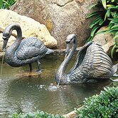 Birds Ruffled Swan Fountain