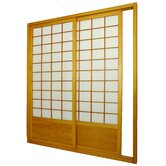 Double Sided Sliding Door Room Divider in Honey