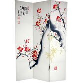 6Feet Tall Double Sided Cherry Blossoms and Love Canvas Room Divider