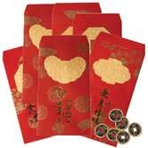Lucky Envelopes with Coins (Set of 6)
