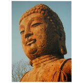 "Rust Color Buddha Statue Canvas Wall Art - 23.5"" x 31.5"""