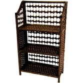 33&quot; Natural Fiber Shelving Unit in Mocha