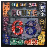 Route 66 Canvas Wall Art - 19.75&quot; x 19.75&quot;