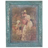 Rustic Mother and Child Garden Framed Picture