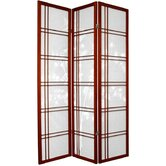 "72"" Double Crossed Bamboo Tree Room Divider in Rosewood"