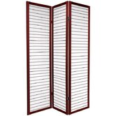 Rice Paper Shoji Room Divider in Rosewood