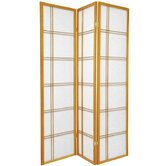 Double Cross Room Divider in Honey
