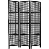 Miyagi Shoji Room Divider in Black