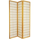 Window Pane Room Divider in Honey