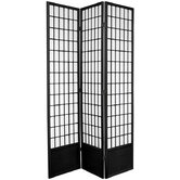 78&quot; Window Pane Decorative Room Divider in Black