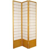 "78"" Window Pane Decorative Room Divider in Honey"