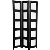 Double Sided Photo Display Room Divider in Black