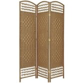 5.5 Feet Tall Fiber Weave Room Divider in Natural