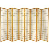 Window Pane Shoji 8 Panel Screen in Honey