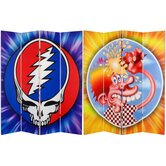 Tall Double Sided Grateful Dead Steal Your Face Canvas Room Divider