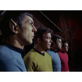 Star Trek Spock, Kirk, Bones, and Scotty Wall Art