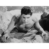 Elvis Presley At the Beach Wall Art