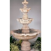 Three-Tier Cast Stone Renaissance Waterfall Fountain