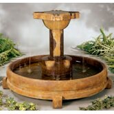 Centerpiece Stone Overflowing Cross Fountain