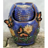 Glazed Porcelain Butterfly Fountain