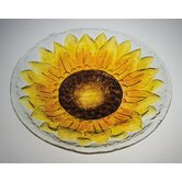 Sunflower Glass Bird Bath