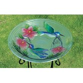 HumBird Couple Bird Bath in Glass