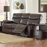 Key Grain Leather Reclining Sofa