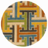 Vibrance Beige Geometric Puzzle Rug