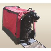 Collapsible Pet Travel Crate in Red
