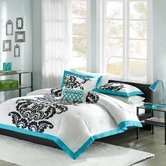 Florentine Teal Modern Comforter Set