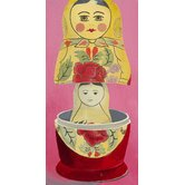 Matryoshka Mother Daughter Giclee Print Art